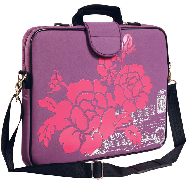 "15.6"" Screen Size Laptop Sleeve w/Handle & shoulder Strap Purple"