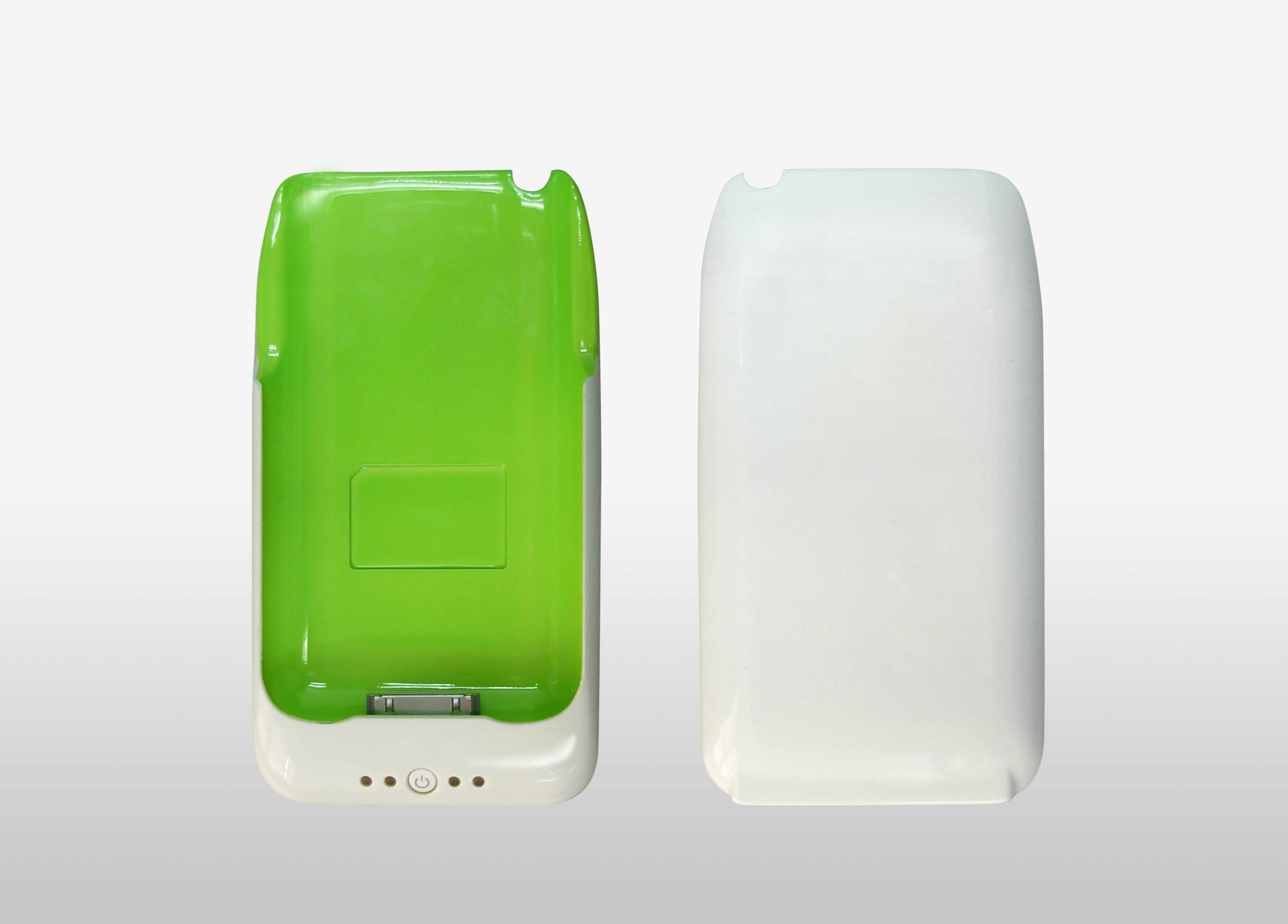iPhone Power Pack Case+external battery for 3G 3GS, White Green