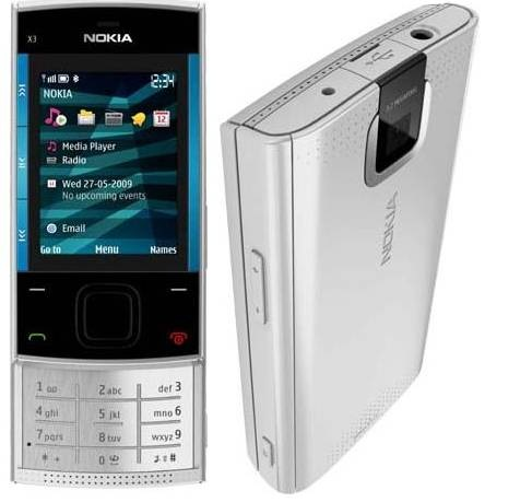 Nokia X3 in Silver